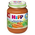 HIPP Био бебешко пюре моркови и ябълки 4м+ 125 гр.